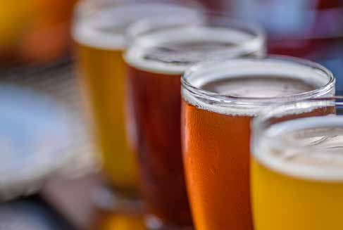 Full pint glasses of beer