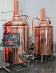 Clun Brewery brewing equipment