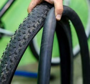 Old bicycle tyres