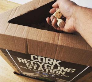 Cork recycling station