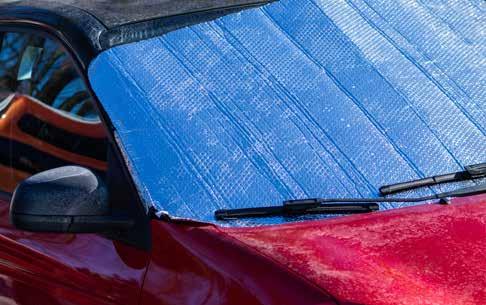 TCP sheet on car windscreen