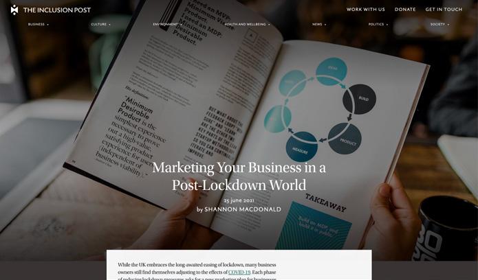 Screenshot of Luther Marketing website