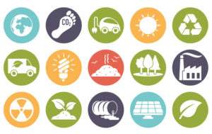 Icons showing different methods of sustainability