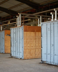 Photo of wood drying containers